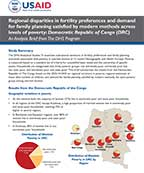 Cover of Regional disparities in fertility preferences and demand for family planning satisfied by modern methods across levels of poverty  (Analysis Brief) (English)