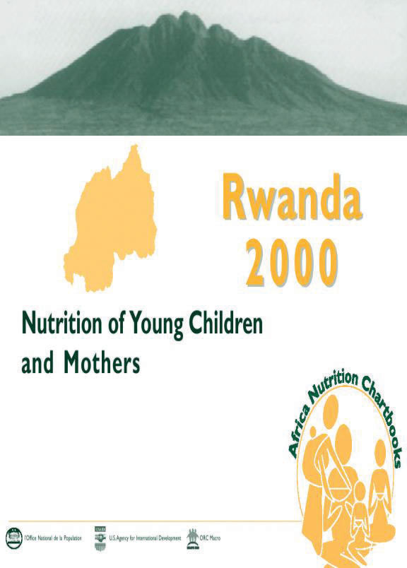 Cover of Rwanda 2000, Nutrition in Young Children and Mothers (English, French)