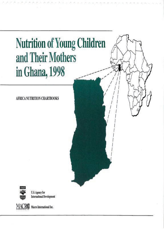 Cover of Ghana 1998, Nutrition of Young Children and Their Mothers (English)