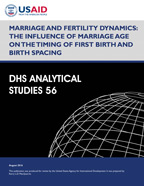 Cover of Marriage and Fertility Dynamics: The Influence of Marriage Age on the Timing of First Birth and Birth Spacing (English)