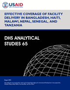 Cover of Effective Coverage of Facility Delivery in Bangladesh, Haiti, Malawi, Nepal, Senegal, and Tanzania (English)