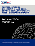 Cover of The Association of Deforestation and Other Environmental Factors with Child Health and Mortality (English)