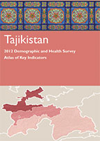 Cover of Tajikistan 2012 DHS - Atlas of Key Indicators (Russian) (English)