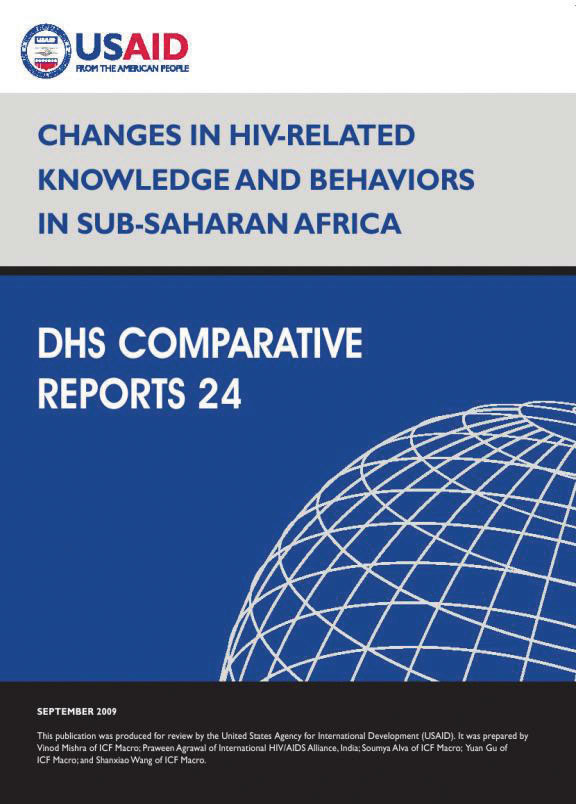 Cover of Changes in HIV-Related Knowledge and Behaviors in Sub-Saharan Africa (English)