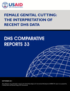 Cover of Female Genital Cutting: The Interpretation of Recent DHS Data (English)