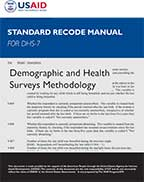 Cover of DHS Recode Manual (English)