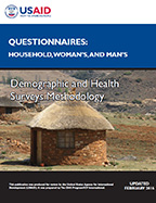 Cover of DHS Model Questionnaire - Phase 7 (English, French)