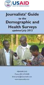 Cover of Journalists' Guide to the Demographic and Health Surveys - updated July 2012 (English)