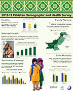 Cover of Pakistan 2012-13 DHS - Wall Chart (English)