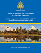 Cover of Trends in Maternal and Child Health in Cambodia, 2000-2014 (English)
