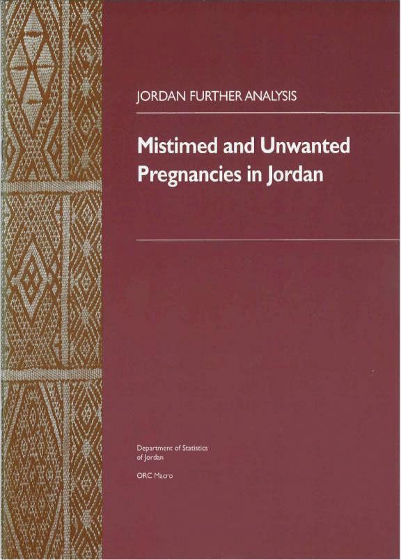 Cover of Mistimed and Unwanted Pregnancies in Jordan (English)