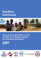 Cover of Dominican Republic Special DHS, 2007 - Final Report - Bateyes (Spanish)