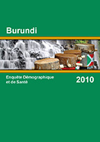 Cover of Burundi DHS, 2010 - Final Report (French)