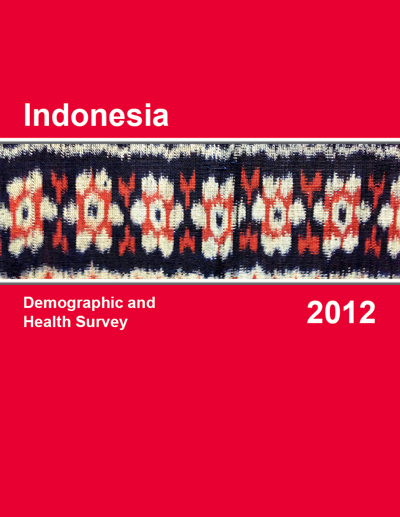 Cover of Indonesia DHS, 2012 - Final Report (English)