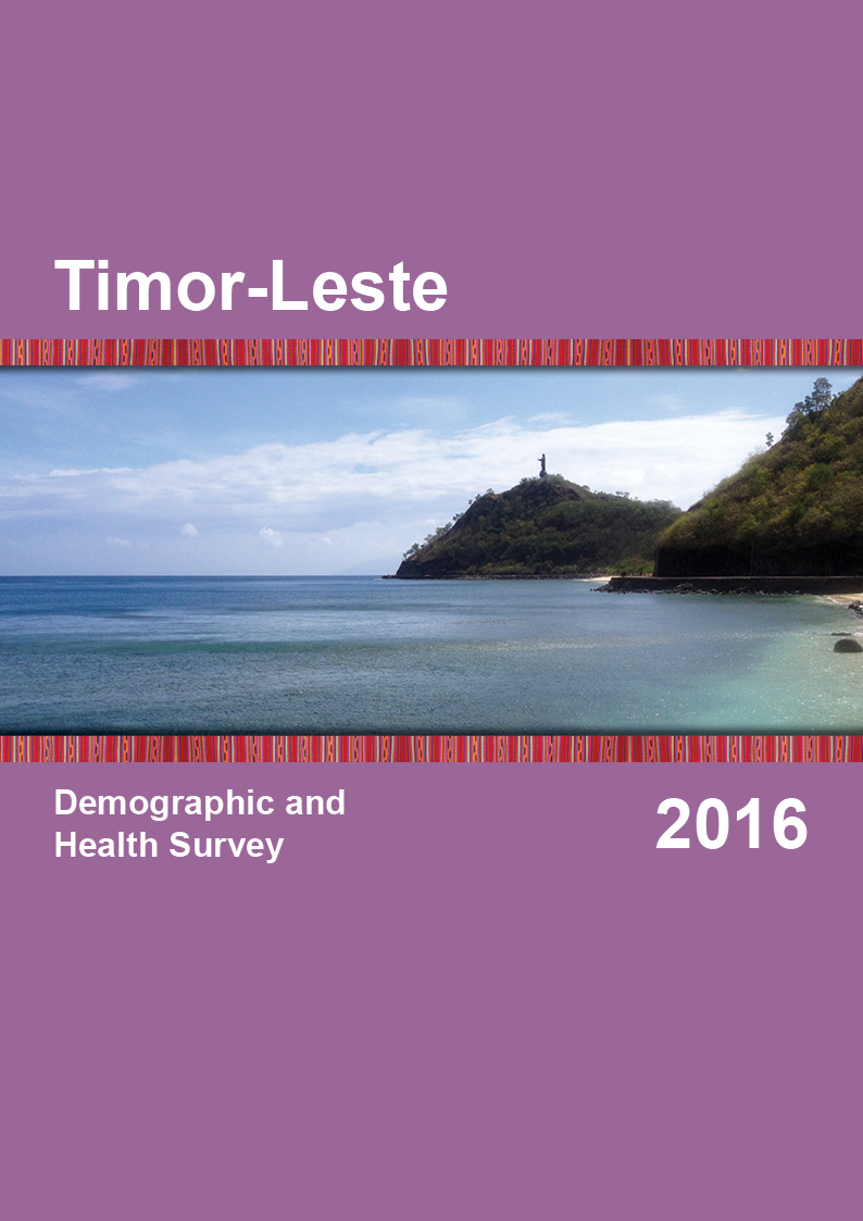 Cover of Timor-Leste DHS, 2016 - Final Report (English)