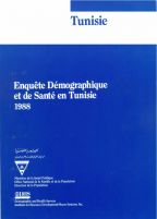 Cover of Tunisia DHS, 1988 - Final Report (French)