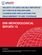 Cover of Validity of Data on Self-reported HIV Status in Malawi and Uganda and Implications for Measurement of ARV Coverage (English)