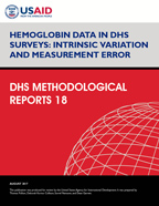 Cover of Hemoglobin Data in DHS Surveys: Intrinsic Variation and Measurement Error (English)