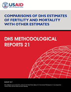 Cover of Comparisons of DHS Estimates of Fertility and Mortality with Other Estimates (English)