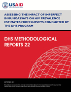 Cover of Assessing the Impact of Imperfect Immunoassays on HIV Prevalence Estimates from Surveys Conducted by The DHS Program (English)