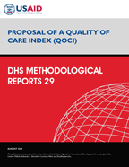 Cover of Proposal of a Quality of Care Index (QOCI) (English)