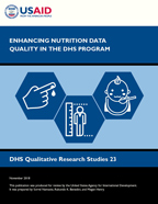 Cover of Enhancing Nutrition Data Quality in the DHS Program (English)