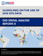 Cover of Guidelines on the Use of DHS GPS Data (English)
