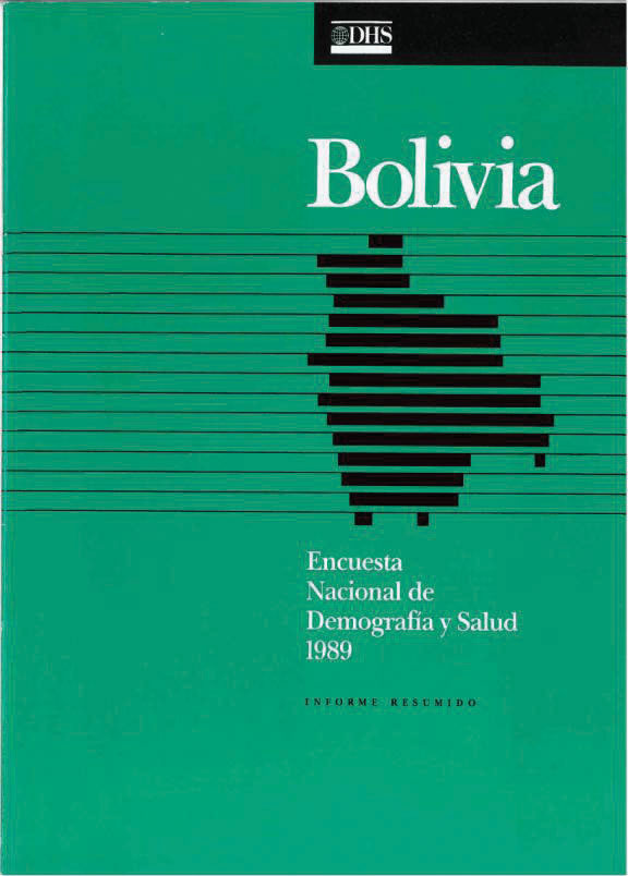 Cover of Bolivia DHS, 1989 - Summary Report (Spanish)