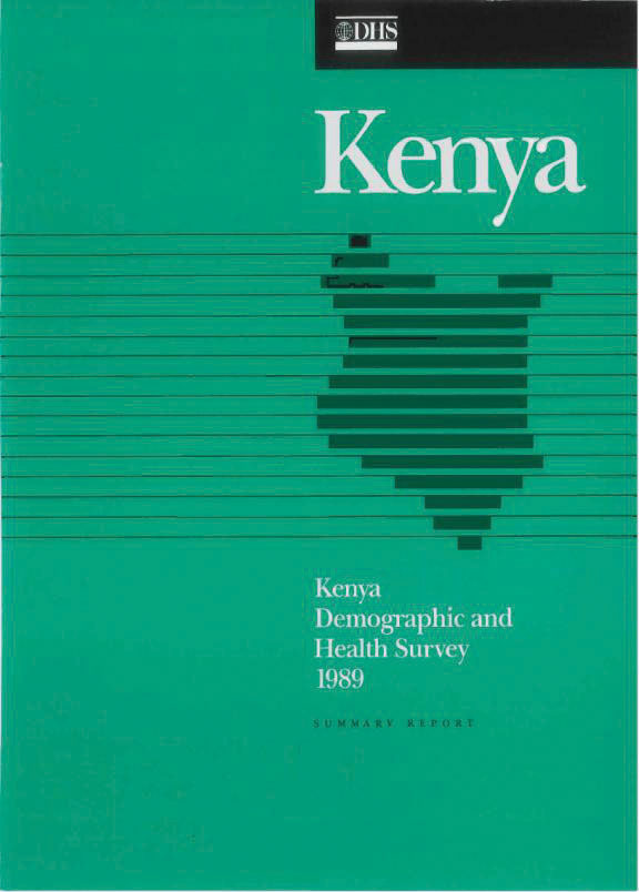 Cover of Kenya DHS, 1989 - Summary Report (English)
