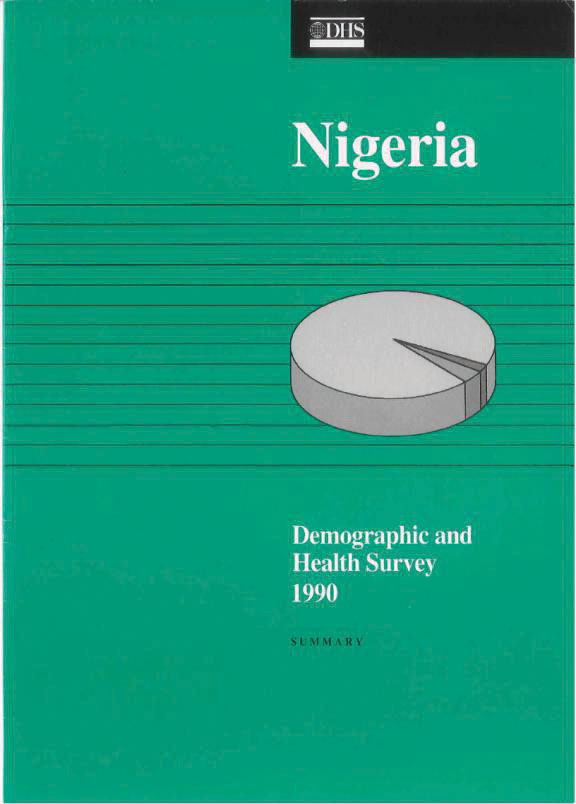 Cover of Nigeria DHS, 1990 - Summary Report (English)