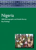 Cover of Nigeria DHS, 2008 - Key Findings (English)