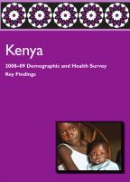 Cover of Kenya DHS, 2008-09 - Key Findings (English)