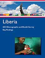 Cover of Liberia DHS, 2013 - Key Findings (English)