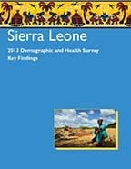 Cover of Sierra Leone DHS, 2013 - Key Findings (English)