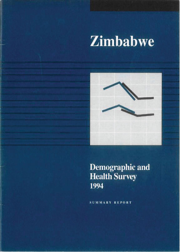 Cover of Zimbabwe DHS, 1994 - Summary Report (English)