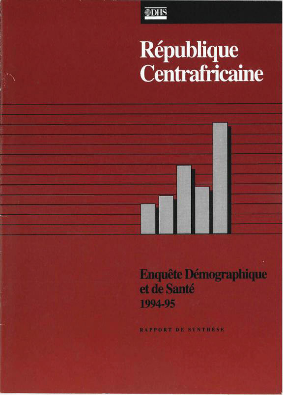 Cover of Central African Republic DHS, 1994-95 - Summary Report (French)