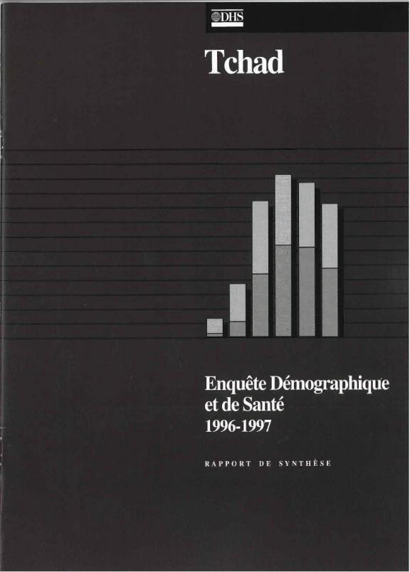 Cover of Chad DHS, 1996-97 - Summary Report (French)