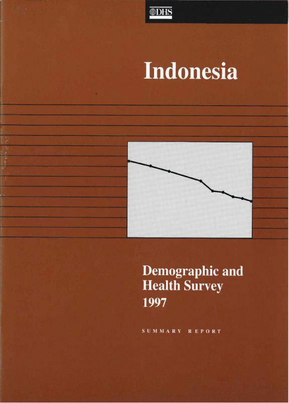 Cover of Indonesia DHS, 1997 - Summary Report (English)