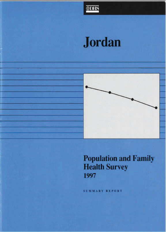 Cover of Jordan DHS, 1997 - Summary Report (English)
