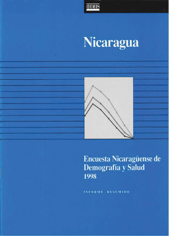 Cover of Nicaragua DHS, 1998 - Summary Report (Spanish)