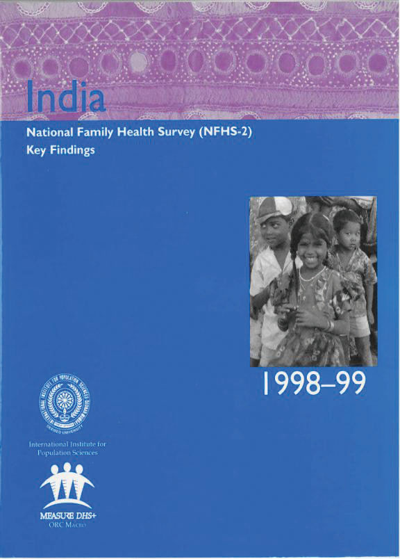 Cover of India DHS, 1998-99 - Summary Report (English)