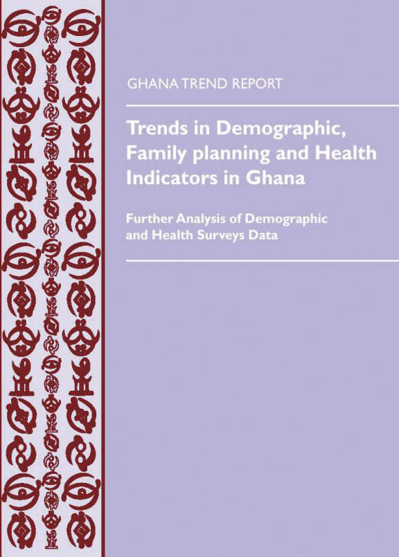 Cover of Trends in Demographic, Family planning and Health Indicators in Ghana 1960-2003 (English)