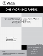Cover of Non-use of Contraceptives among Married Women (English)