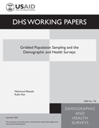 Cover of Gridded Population Sampling and the Demographic and Health Surveys (English)