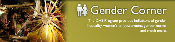 The DHS Program provides indicators of gender inequality, women's empowerment, gender norms, and much more.